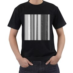 Shades Of Grey Wood And Metal Men s T Shirt (black) (two Sided)