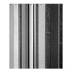 Shades Of Grey Wood And Metal Shower Curtain 60  X 72  (medium)  by FunnyCow