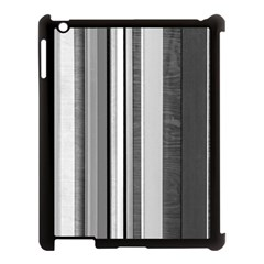 Shades Of Grey Wood And Metal Apple Ipad 3/4 Case (black) by FunnyCow