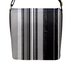 Shades Of Grey Wood And Metal Flap Messenger Bag (l)  by FunnyCow