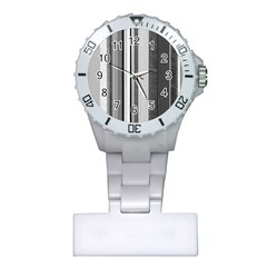 Shades Of Grey Wood And Metal Plastic Nurses Watch by FunnyCow