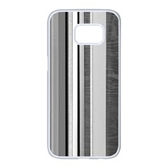 Shades Of Grey Wood And Metal Samsung Galaxy S7 Edge White Seamless Case by FunnyCow