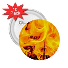 Fire And Flames 2 25  Buttons (10 Pack)  by FunnyCow