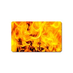 Fire And Flames Magnet (name Card) by FunnyCow