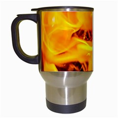 Fire And Flames Travel Mugs (white) by FunnyCow
