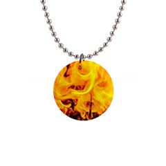 Fire And Flames Button Necklaces by FunnyCow