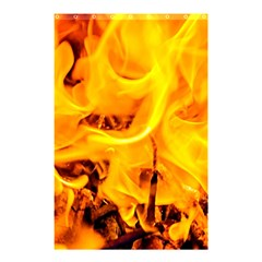 Fire And Flames Shower Curtain 48  X 72  (small)  by FunnyCow