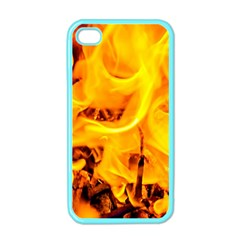 Fire And Flames Apple Iphone 4 Case (color) by FunnyCow