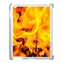 Fire And Flames Apple Ipad 3/4 Case (white) by FunnyCow