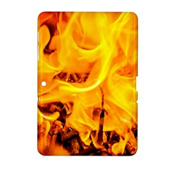 Fire And Flames Samsung Galaxy Tab 2 (10 1 ) P5100 Hardshell Case  by FunnyCow