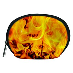 Fire And Flames Accessory Pouches (medium)  by FunnyCow