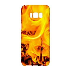Fire And Flames Samsung Galaxy S8 Hardshell Case  by FunnyCow