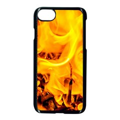 Fire And Flames Apple Iphone 8 Seamless Case (black) by FunnyCow