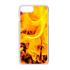 Fire And Flames Apple Iphone 8 Plus Seamless Case (white) by FunnyCow
