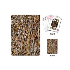 Dry Hay Texture Playing Cards (mini)  by FunnyCow