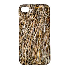 Dry Hay Texture Apple Iphone 4/4s Hardshell Case With Stand by FunnyCow