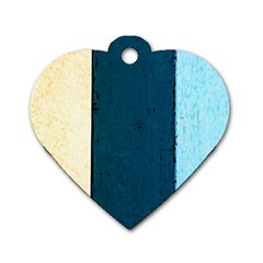 Flat Angle Dog Tag Heart (two Sides) by FunnyCow