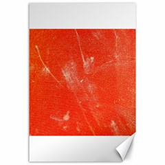 Grunge Red Tarpaulin Texture Canvas 24  X 36  by FunnyCow