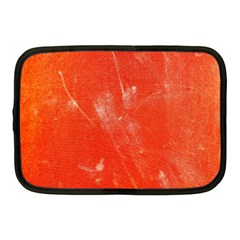 Grunge Red Tarpaulin Texture Netbook Case (medium)  by FunnyCow