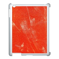 Grunge Red Tarpaulin Texture Apple Ipad 3/4 Case (white) by FunnyCow