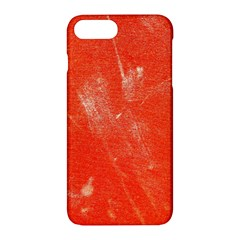 Grunge Red Tarpaulin Texture Apple Iphone 7 Plus Hardshell Case by FunnyCow