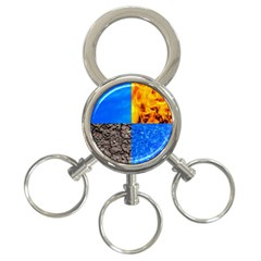 The Fifth Inside Funny Pattern 3 Ring Key Chains by FunnyCow