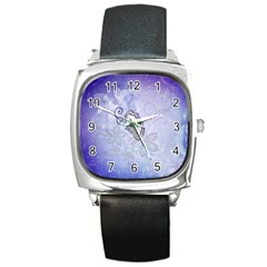 Wonderful Butterlies With Flowers Square Metal Watch by FantasyWorld7