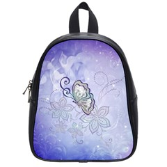 Wonderful Butterlies With Flowers School Bag (small) by FantasyWorld7
