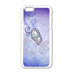 Wonderful Butterlies With Flowers Apple Iphone 6/6s White Enamel Case by FantasyWorld7