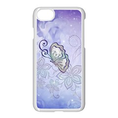 Wonderful Butterlies With Flowers Apple Iphone 8 Seamless Case (white) by FantasyWorld7