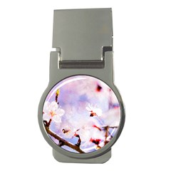 Pink Sakura Purple Background Money Clips (round)  by FunnyCow
