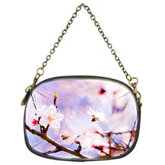 Pink Sakura Purple Background Chain Purses (one Side)  by FunnyCow