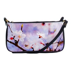 Pink Sakura Purple Background Shoulder Clutch Bags by FunnyCow