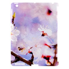 Pink Sakura Purple Background Apple Ipad 3/4 Hardshell Case (compatible With Smart Cover) by FunnyCow
