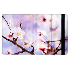 Pink Sakura Purple Background Apple Ipad 3/4 Flip Case by FunnyCow