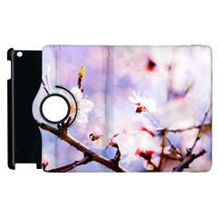 Pink Sakura Purple Background Apple Ipad 3/4 Flip 360 Case by FunnyCow
