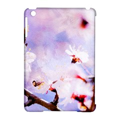 Pink Sakura Purple Background Apple Ipad Mini Hardshell Case (compatible With Smart Cover) by FunnyCow