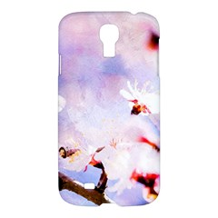 Pink Sakura Purple Background Samsung Galaxy S4 I9500/i9505 Hardshell Case by FunnyCow