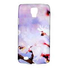 Pink Sakura Purple Background Samsung Galaxy S4 Active (i9295) Hardshell Case by FunnyCow