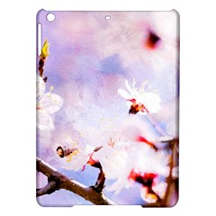 Pink Sakura Purple Background Ipad Air Hardshell Cases by FunnyCow