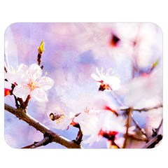 Pink Sakura Purple Background Double Sided Flano Blanket (medium)  by FunnyCow