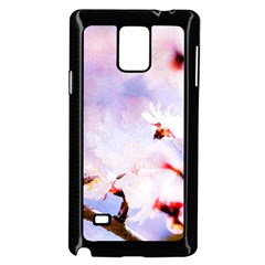 Pink Sakura Purple Background Samsung Galaxy Note 4 Case (black) by FunnyCow