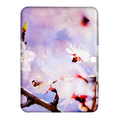 Pink Sakura Purple Background Samsung Galaxy Tab 4 (10 1 ) Hardshell Case  by FunnyCow