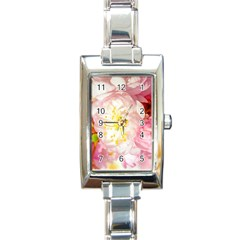 Pink Flowering Almond Flowers Rectangle Italian Charm Watch by FunnyCow