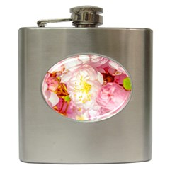 Pink Flowering Almond Flowers Hip Flask (6 Oz) by FunnyCow