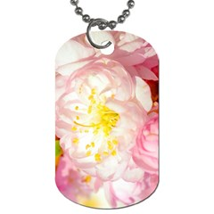 Pink Flowering Almond Flowers Dog Tag (two Sides) by FunnyCow