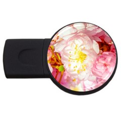 Pink Flowering Almond Flowers Usb Flash Drive Round (4 Gb) by FunnyCow