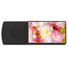 Pink Flowering Almond Flowers Rectangular Usb Flash Drive by FunnyCow