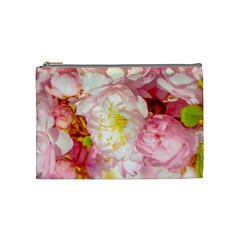 Pink Flowering Almond Flowers Cosmetic Bag (medium) by FunnyCow
