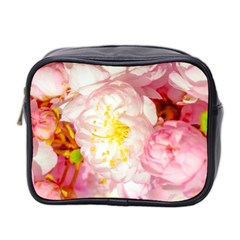 Pink Flowering Almond Flowers Mini Toiletries Bag 2 Side by FunnyCow